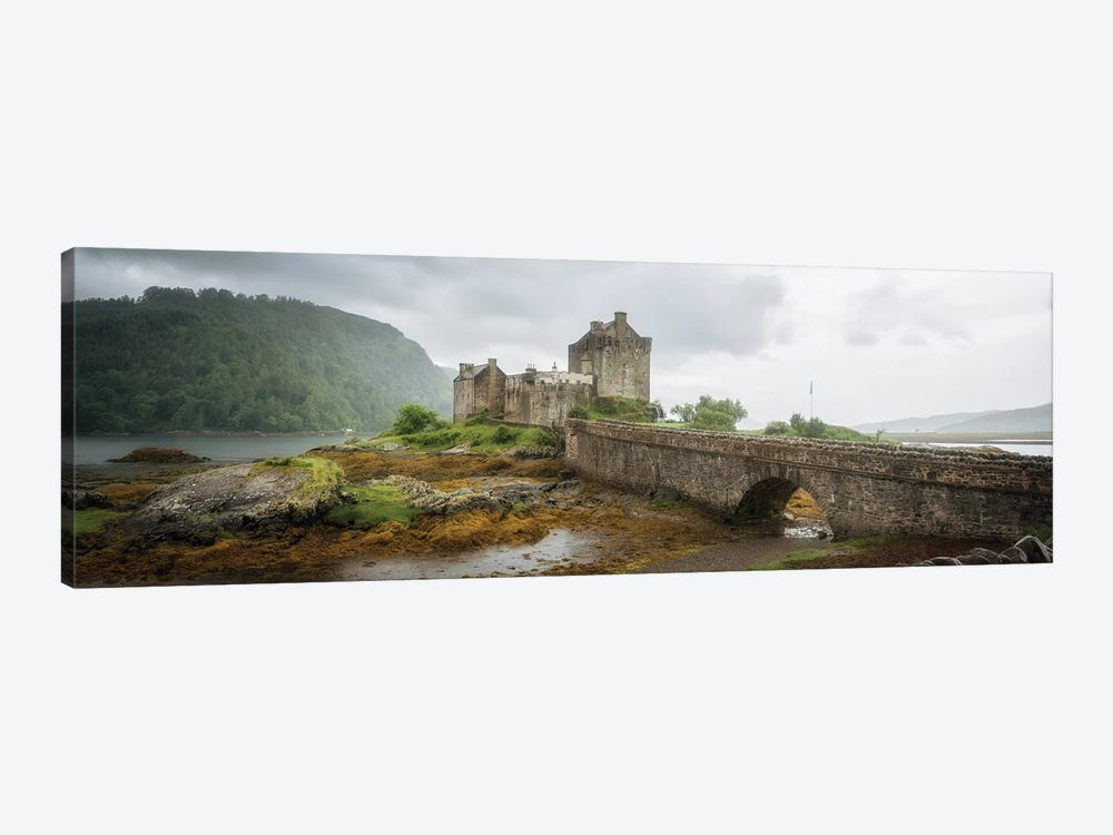 Eilean Donan Castle, Dornie Panoramic Highland Region, Scotland, UK by Philippe Manguin 1-piece Canvas Print