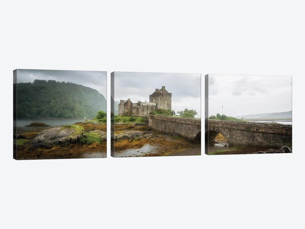 Eilean Donan Castle, Dornie Panoramic Highland Region, Scotland, UK by Philippe Manguin 3-piece Art Print