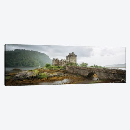 Eilean Donan Castle, Dornie Panoramic Highland Region, Scotland, UK Canvas Print #PHM276} by Philippe Manguin Canvas Art