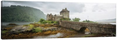 Eilean Donan Castle, Dornie Panoramic Highland Region, Scotland, UK Canvas Art Print