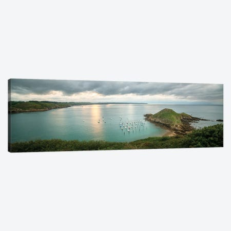 Gwin Zegal Harbor En Bretagne Panoramic Canvas Print #PHM277} by Philippe Manguin Canvas Artwork