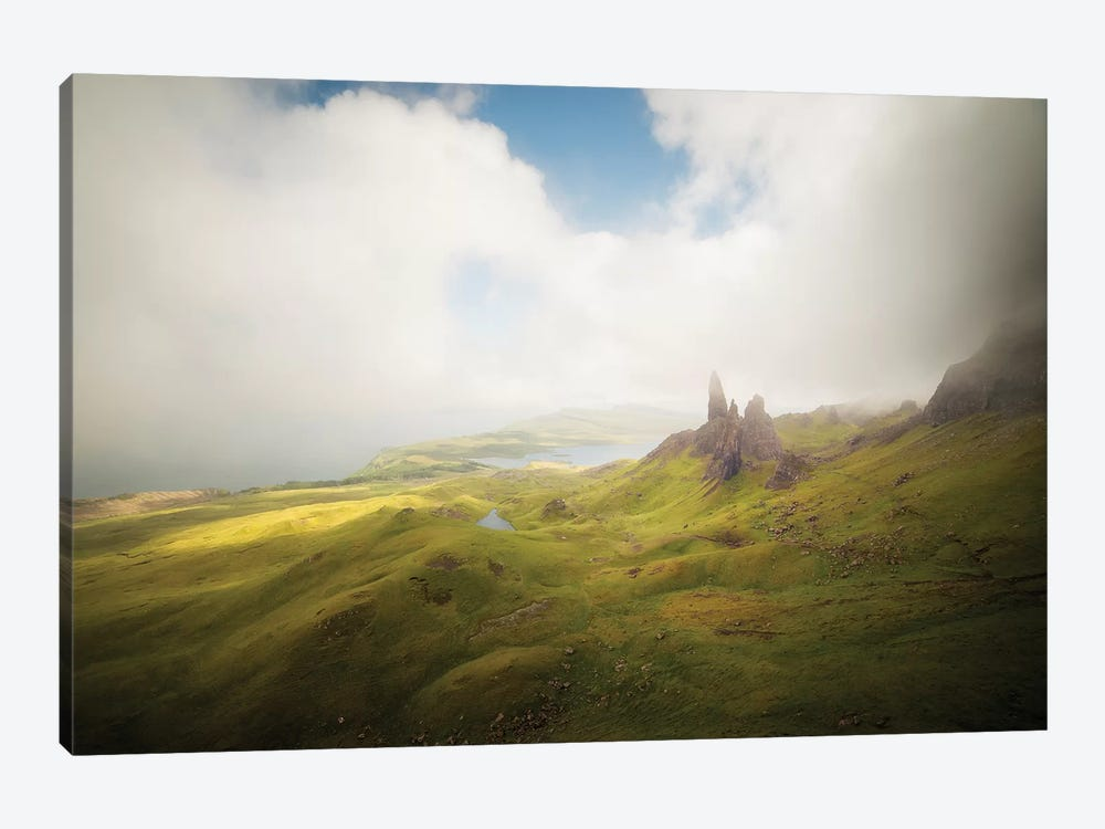 Isle Of Skye Old Man Of Storr In Highlands Scotland I by Philippe Manguin 1-piece Canvas Print