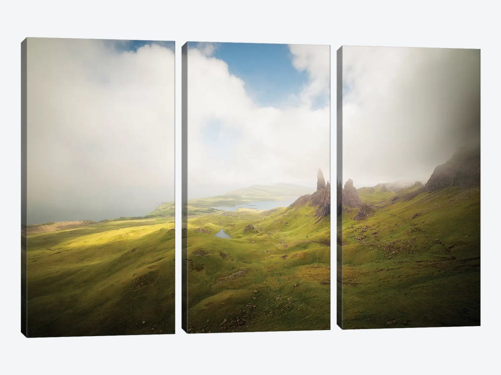 Isle Of Skye Old Man Of Storr In Highlands Scotland I by Philippe Manguin 3-piece Art Print
