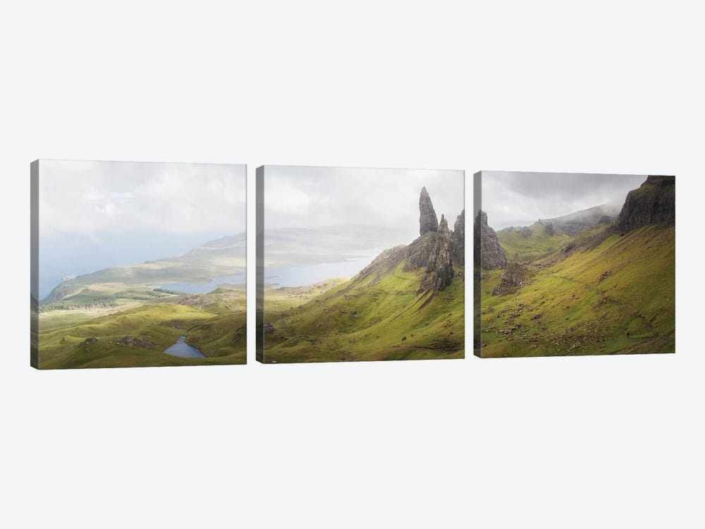 Isle Of Skye Old Man Of Storr In Highlands Scotland II by Philippe Manguin 3-piece Canvas Wall Art