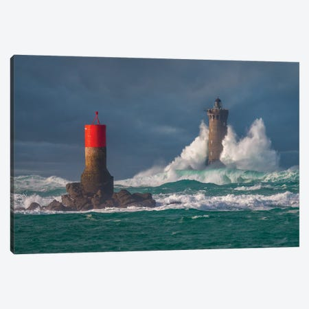 Le Four Lighthouse At Porspoder Canvas Print #PHM287} by Philippe Manguin Canvas Art Print