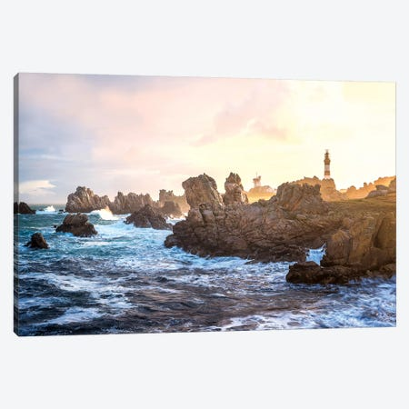 Ouessant - Bretagne -Le Phare Du Creac'H II Canvas Print #PHM294} by Philippe Manguin Canvas Wall Art
