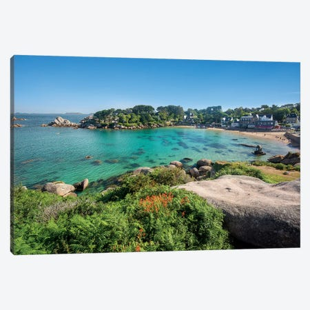 Plage De Saint Guirec Canvas Print #PHM305} by Philippe Manguin Canvas Art