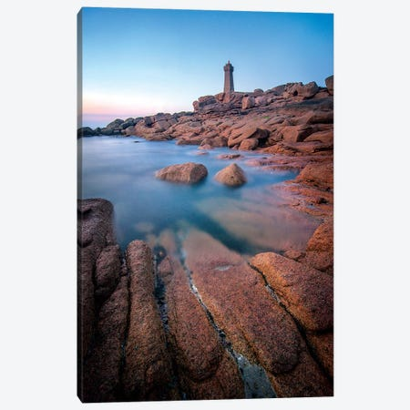 Ploumanac'H Men Ruz Lighthouse Canvas Print #PHM307} by Philippe Manguin Canvas Artwork