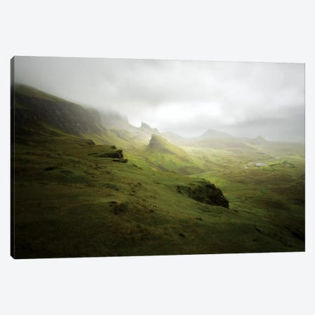 Quiraing In Skye Island Scotland Canvas Print #PHM317} by Philippe Manguin Art Print