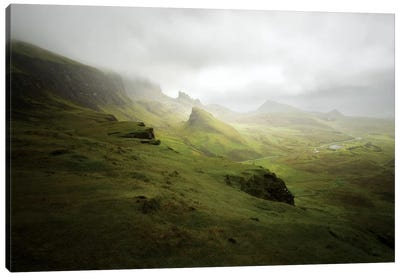 Quiraing In Skye Island Scotland Canvas Art Print
