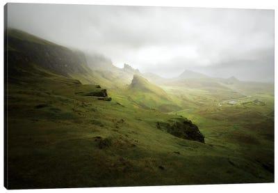 Quiraing In Skye Island Scotland Canvas Art Print