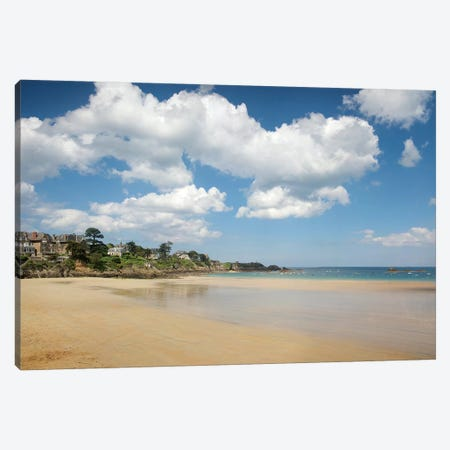 Saint Lunaire Beach Canvas Print #PHM319} by Philippe Manguin Canvas Wall Art