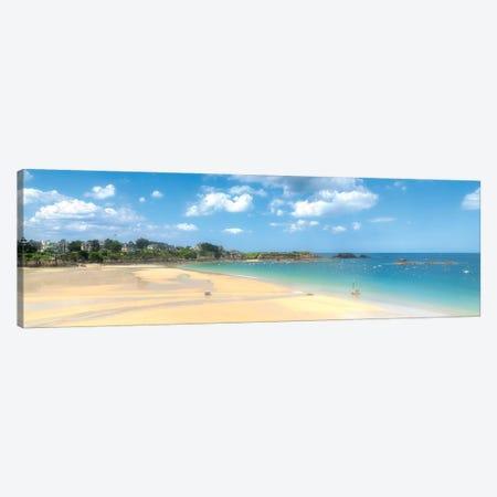 Saint Lunaire Beach In Bretagne Canvas Print #PHM320} by Philippe Manguin Canvas Art Print