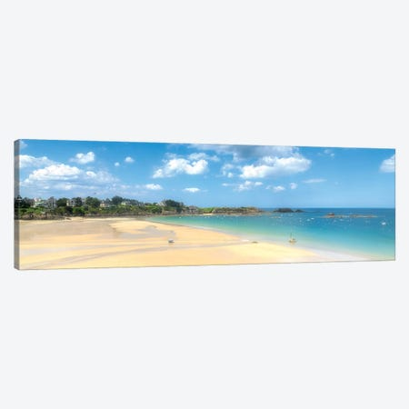 Saint Lunaire Beach In Bretagne Canvas Print #PHM320} by Philippe Manguin Canvas Art Print