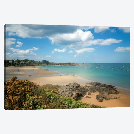 Saint Lunaire Sea Shore Canvas Print #PHM323} by Philippe Manguin Art Print