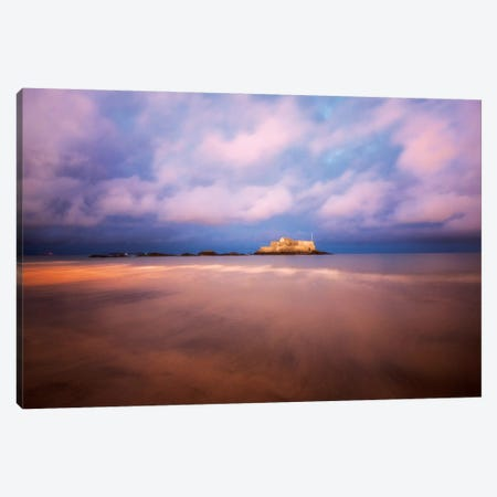 Saint Malo Bretagne Pink Mood Canvas Print #PHM327} by Philippe Manguin Canvas Artwork