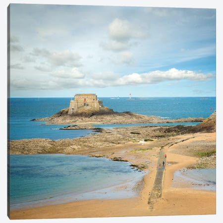 Saint Malo Et Fort Du Petit Bé En Bretagne Canvas Print #PHM328} by Philippe Manguin Canvas Art Print