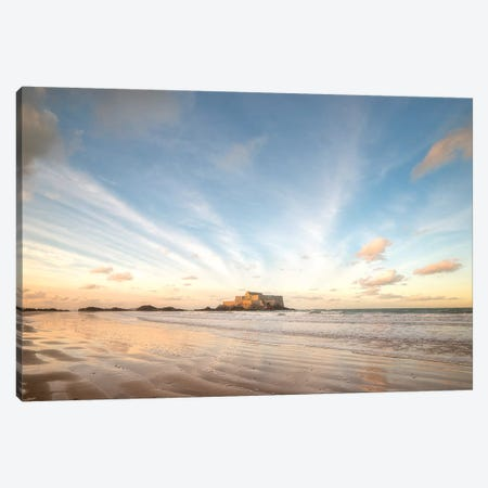 Saint Malo Panoramic 3-Piece Canvas #PHM329} by Philippe Manguin Canvas Art Print
