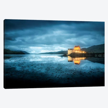 Scotland, Highlands, Eilean Donan Castle By Night  Canvas Print #PHM330} by Philippe Manguin Canvas Art