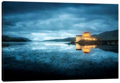 Scotland, Highlands, Eilean Donan Castle By Night  Canvas Art Print