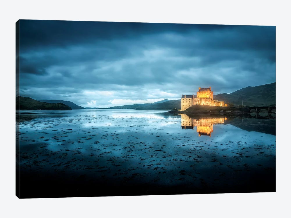 Scotland, Highlands, Eilean Donan Castle By Night  by Philippe Manguin 1-piece Canvas Art