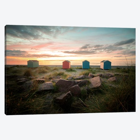 Sweet Sunset On The Beach In Scotland Canvas Print #PHM334} by Philippe Manguin Canvas Print