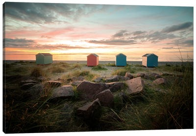 Sweet Sunset On The Beach In Scotland Canvas Art Print