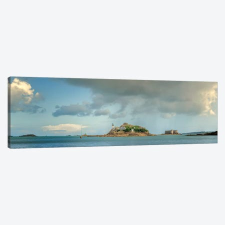 Taureau Castle And Louet Island Canvas Print #PHM335} by Philippe Manguin Canvas Print