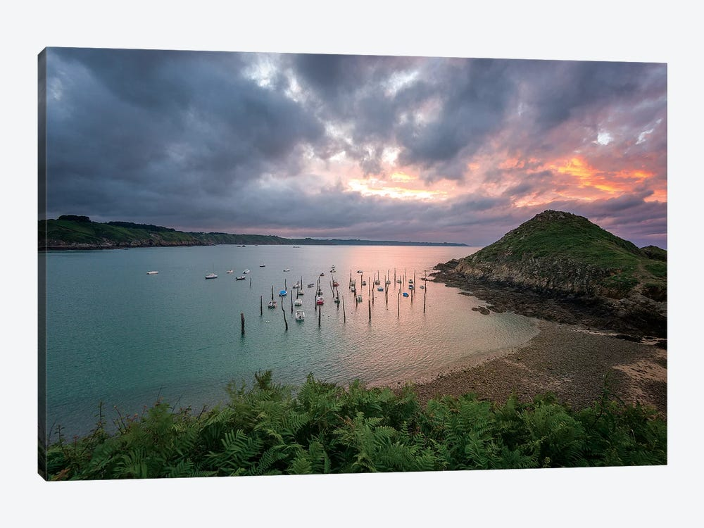 The Gwin Zegal Harbor In Brittany by Philippe Manguin 1-piece Canvas Wall Art