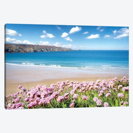 The Trepassed Bay And Beach In Brittany Canvas Print #PHM338} by Philippe Manguin Canvas Wall Art