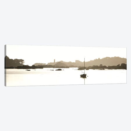 Tregastel En Panoramique Canvas Print #PHM339} by Philippe Manguin Canvas Wall Art