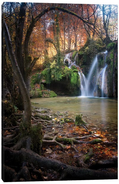 Cascade Des Tufs Canvas Art Print