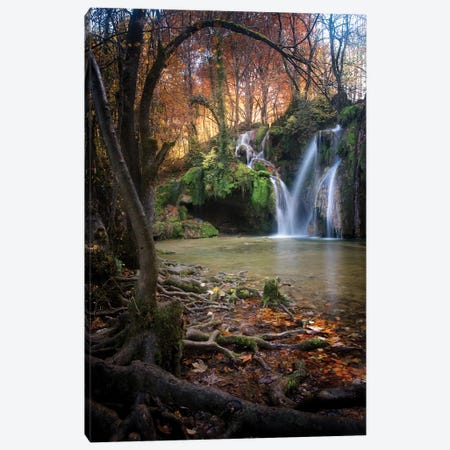 Cascade Des Tufs Canvas Print #PHM33} by Philippe Manguin Canvas Wall Art