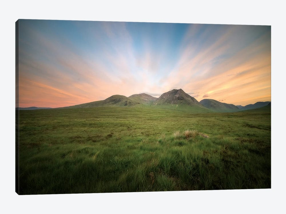 UK, Scotland, Highlands, Glencoe Valley And Mountains by Philippe Manguin 1-piece Canvas Art Print
