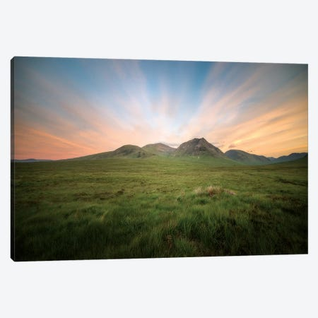 UK, Scotland, Highlands, Glencoe Valley And Mountains Canvas Print #PHM340} by Philippe Manguin Art Print