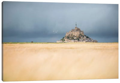 Mont Saint Michel Before The Rain Canvas Art Print