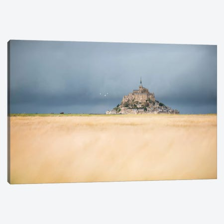 Mont Saint Michel Before The Rain Canvas Print #PHM342} by Philippe Manguin Art Print