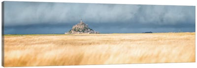 Mont Saint Michel Panoramic Canvas Art Print