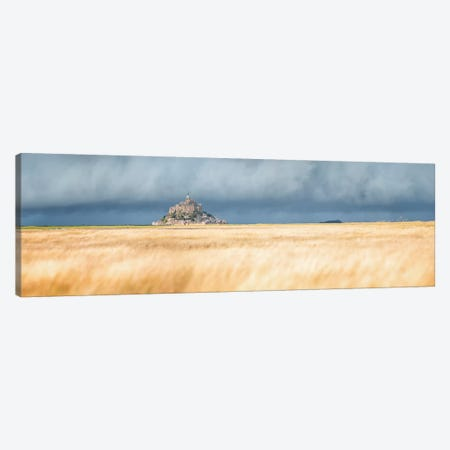 Mont Saint Michel Panoramic Canvas Print #PHM343} by Philippe Manguin Art Print