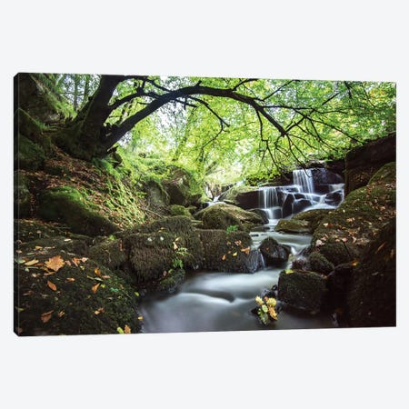 Bretagne Waterfall In Huelgoat Canvas Print #PHM344} by Philippe Manguin Canvas Art