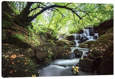 Bretagne Waterfall In Huelgoat Canvas Art Print
