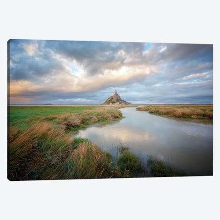 Mont Saint Michel After High Tides Canvas Print #PHM348} by Philippe Manguin Canvas Print