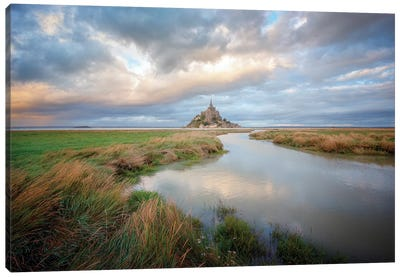 Mont Saint Michel After High Tides Canvas Art Print