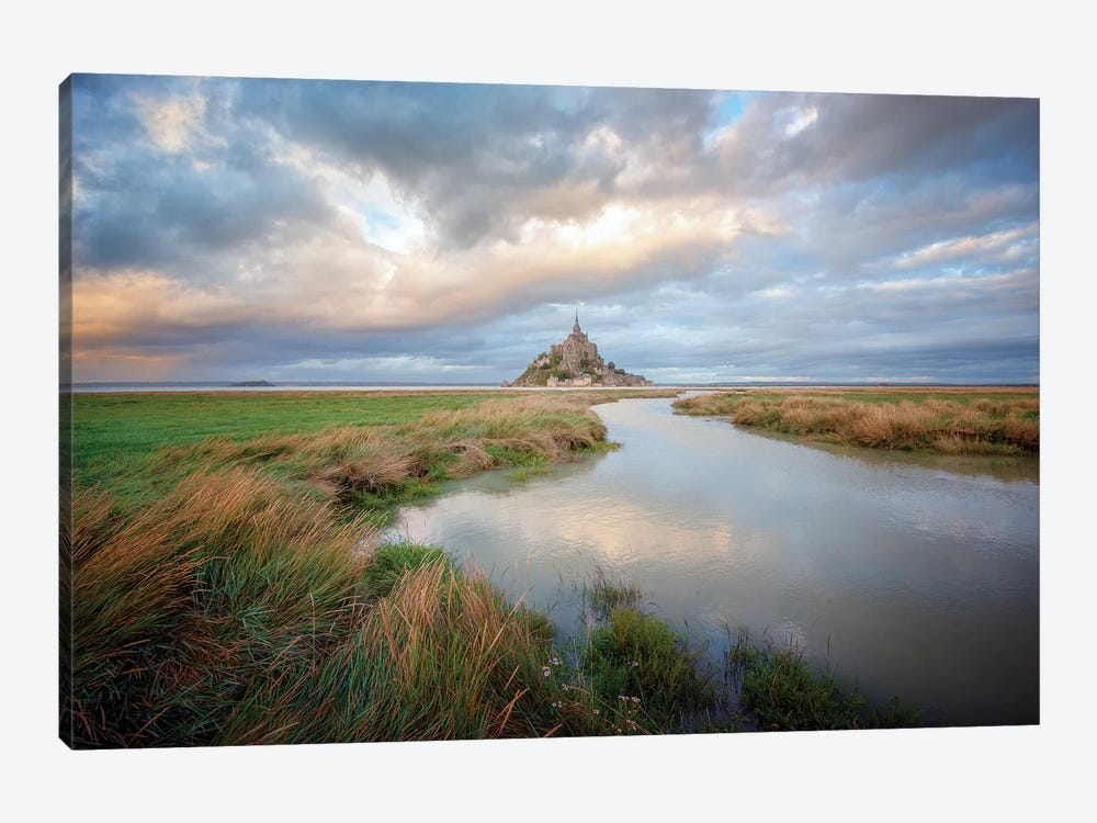 Mont Saint Michel After High Tides by Philippe Manguin 1-piece Art Print