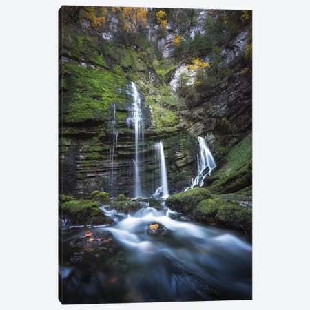 Cascade Du Flumen Canvas Print #PHM35} by Philippe Manguin Canvas Art Print