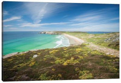 Pen Hat Beach And Toulinguet In Crozon Canvas Art Print