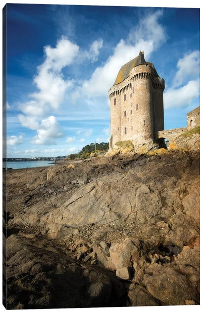 Solidor Tower In Saint Servan Canvas Art Print