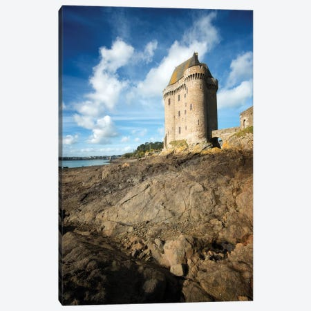 Solidor Tower In Saint Servan 3-Piece Canvas #PHM364} by Philippe Manguin Canvas Wall Art