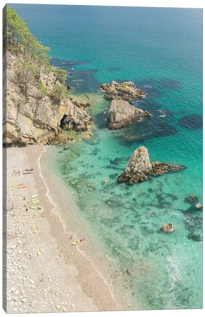 Sunny Beach On Crozon Island Canvas Art Print