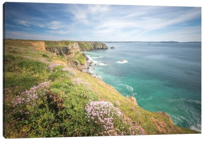 Camaret Bay On Crozon Island Canvas Art Print